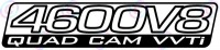 "Land Cruiser ""4600V8 Quad Cam VVTi"" stickers x2"