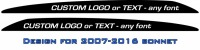 CUSTOM TEXT LandCruiser bonnet scoop stickers