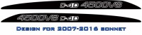 """4500V8 D4D"" LandCruiser bonnet scoop stickers"