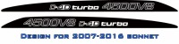 """4500V8 D4D turbo"" LandCruiser bonnet scoop stickers"