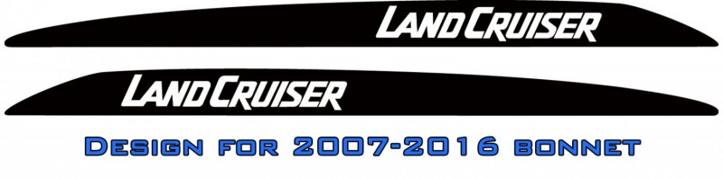 """LANDCRUISER"" Bonnet scoop stickers"
