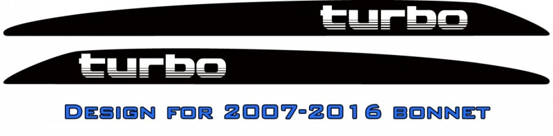 """turbo"" Landcruiser bonnet scoop stickers"