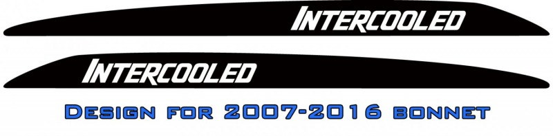 """INTERCOOLED"" LandCruiser bonnet scoop stickers"