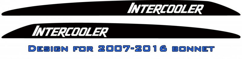 """INTERCOOLER"" LandCruiser bonnet scoop stickers"