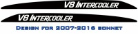 """V8 INTERCOOLER"" LandCruiser bonnet scoop stickers"