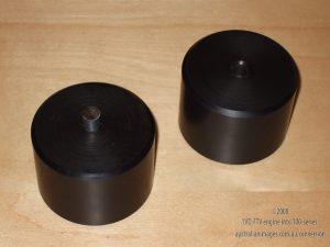 Custom nylon body mounts